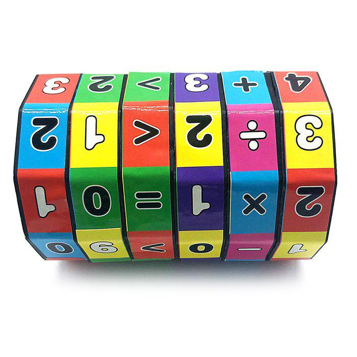 Children's Magic Cube Toy Puzzle Beginner - multicolor F