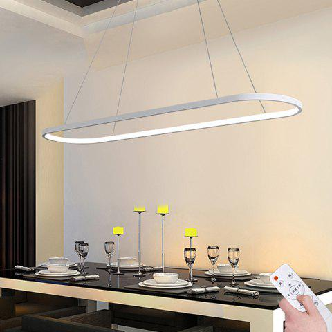 YS - 8007 Rectangular Simple Creative Aluminum Restaurant Chandelier 46W - WHITE 220V-STEPLESS DIMMING