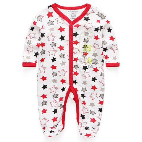 KIDDIEZOOM Fashion Clothing Baby Romper - multicolor D 0 - 3 MONTHS