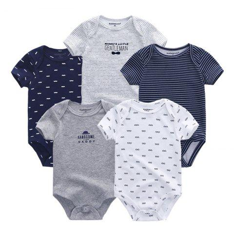 KIDDIEZOOM Universal Baby Jumpsuit 5pcs - multicolor A 3 - 6 MONTHS