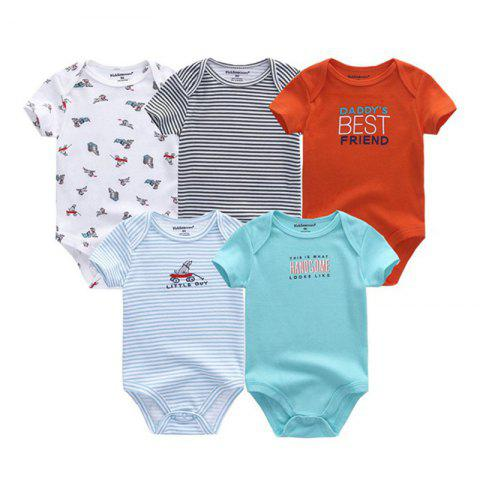 KIDDIEZOOM Universal Baby Jumpsuit 5pcs - multicolor B 3 - 6 MONTHS