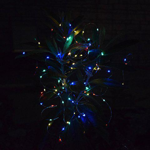 100 LED Solar Eight Mode Light String 12M - COPPER COLORFUL