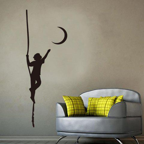 DX066 Carved Removable Personality Wall Sticker - BLACK