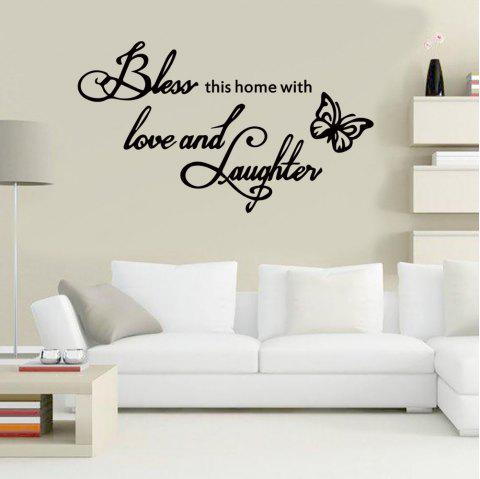 DX080 Fashion Creative Letters Wall Sticker - BLACK