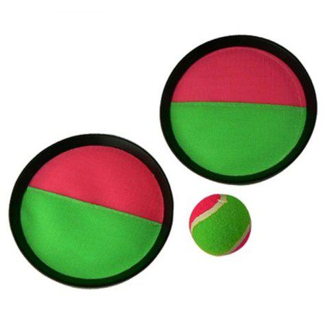 Children's Sticky Target Racket Throwing Suction Cup Ball - multicolor