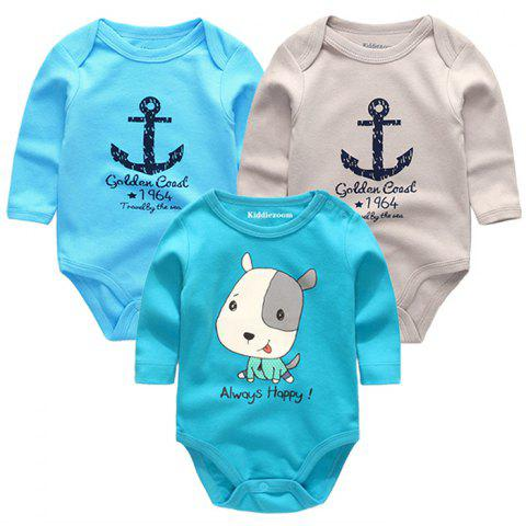 KIDDIEZOOM Clothing Newborn Baby Boy Girl Jumpsuit - multicolor H 6 - 9 MONTHS