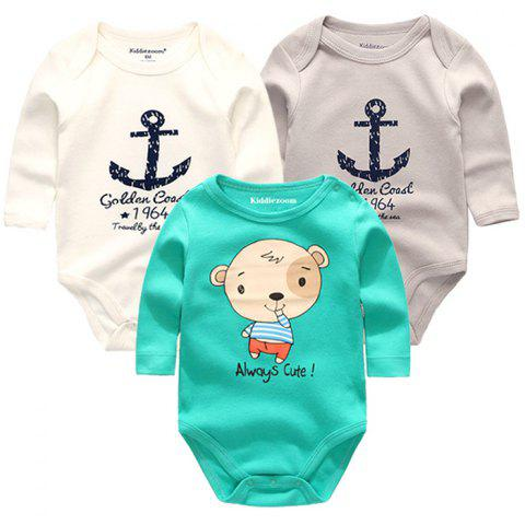 KIDDIEZOOM Clothing Newborn Baby Boy Girl Jumpsuit - multicolor K 6 - 9 MONTHS