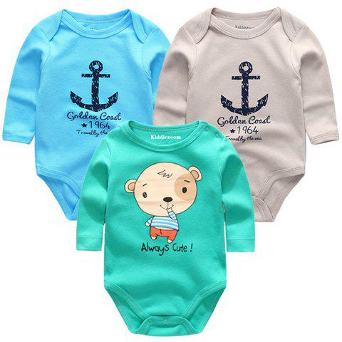 KIDDIEZOOM Clothing Newborn Baby Boy Girl Jumpsuit - multicolor G 0 - 3 MONTHS