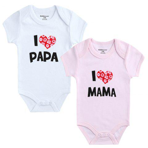 KIDDIEZOOM Baby Printing Fresh Jumpsuit 2pcs - multicolor L 6 - 9 MONTHS