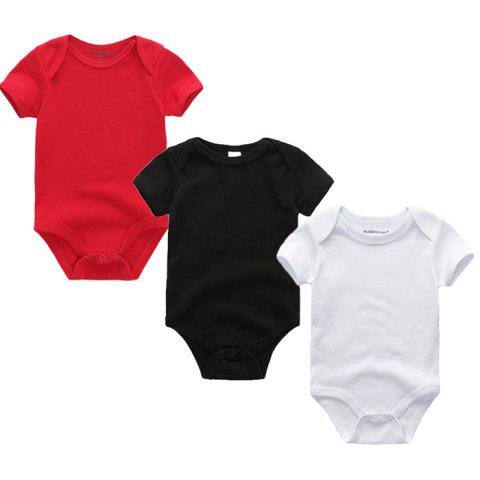 Kiddiezoom Newborn Baby Short Sleeve Romper 3pcs - multicolor 9 - 12 MONTHS