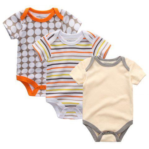 Kiddiezoom Newborn Baby Romper 3pcs - multicolor F 3 - 6 MONTHS