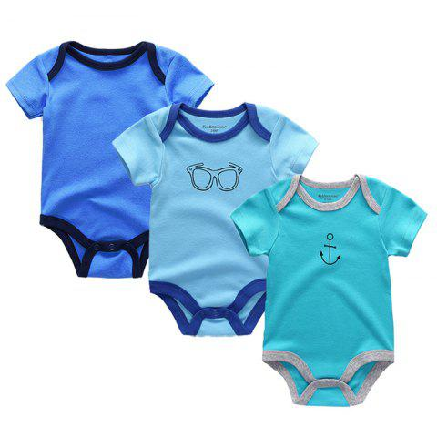 Kiddiezoom Newborn Baby Romper 3pcs - multicolor E 3 - 6 MONTHS
