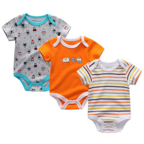 Kiddiezoom Newborn Baby Romper 3pcs - multicolor B 6 - 9 MONTHS