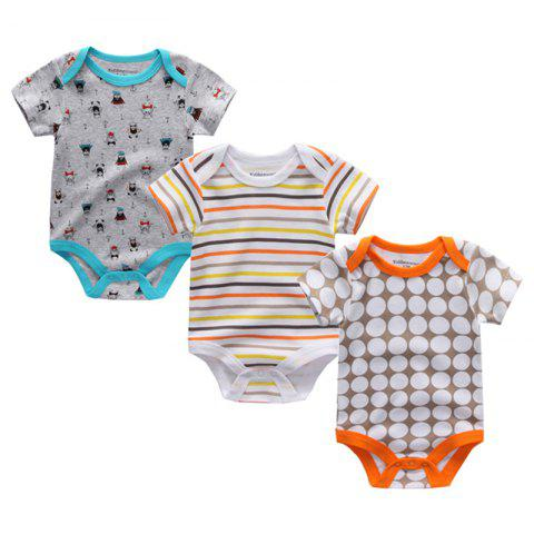 Kiddiezoom Newborn Baby Romper 3pcs - multicolor A 9 - 12 MONTHS