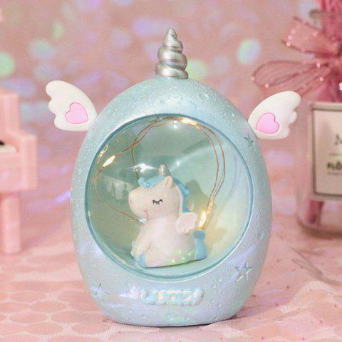 Creative Dream Unicorn Night Light - LIGHT AQUAMARINE BLUE SWEET LIGHT