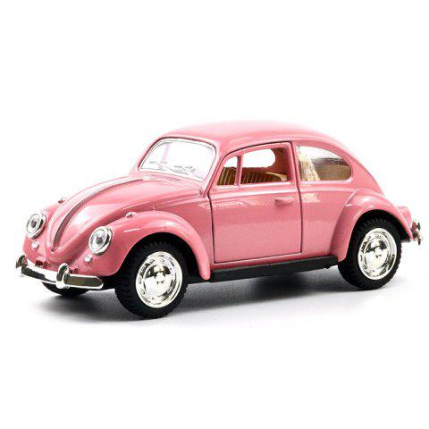 1:32 Alloy Double Door Car Model Cake Baking Ornaments - DEEP PINK