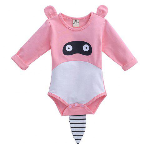 ET0177 Cute Striped Hooded Set - PINK 3 - 6 MONTHS
