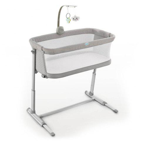 BreathableBabyBedCrib with Bell - GRAY