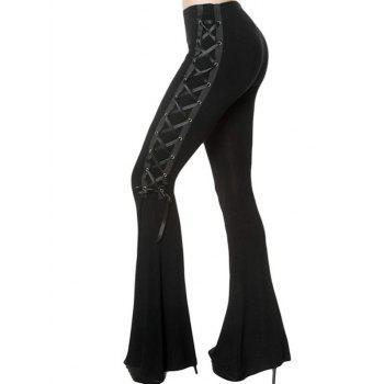 DT0058 Casual Solid Color Slim Side Wide-leg Pants for Women