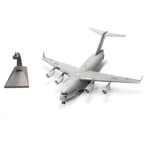Alloy Simulation Static Military Product Aircraft Model - GRAY