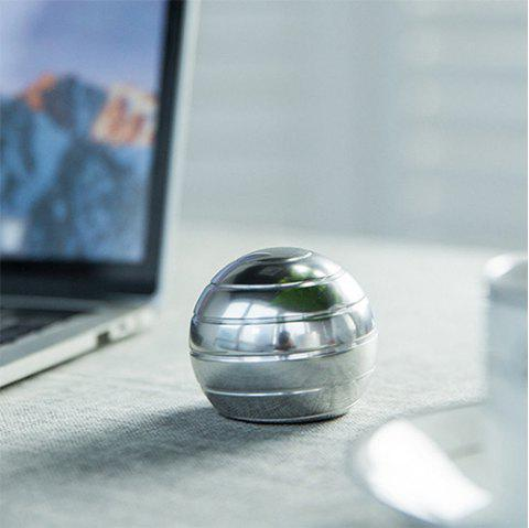 Fully Removable Spinning Ball Gyro Metal Toy - SILVER