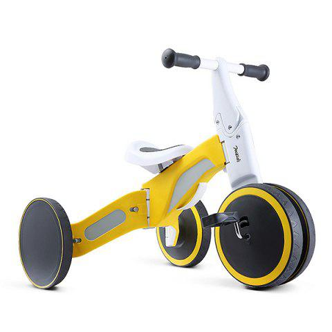 700Kids Child Deformable Balance Car Tricycle Ride and Slip Dual Modes from Xiaomi youpin - YELLOW