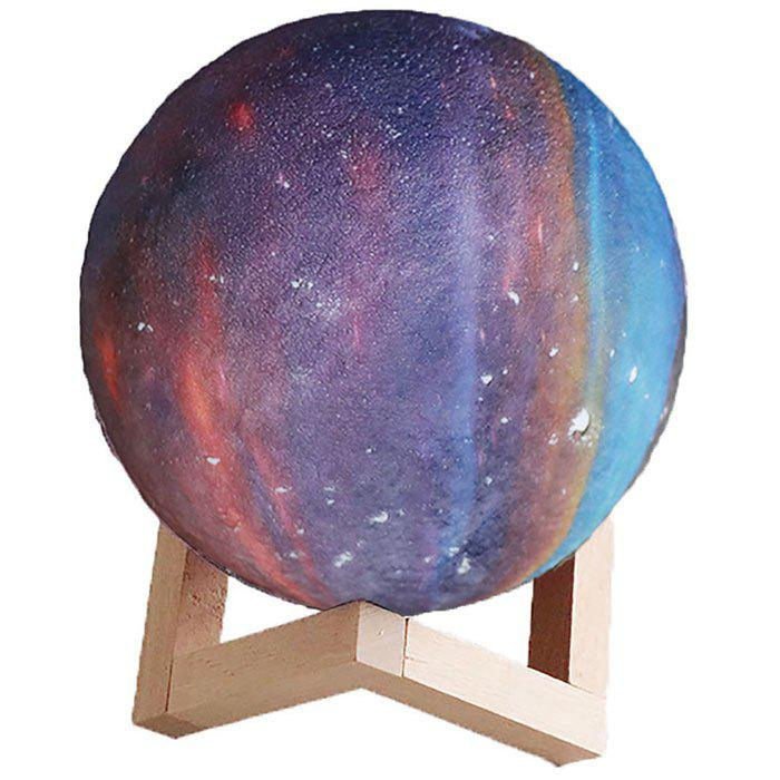 Impression 3D rechargeable à distance Beidian M003 Starry Moon Light - Bleu de Soie 18CM