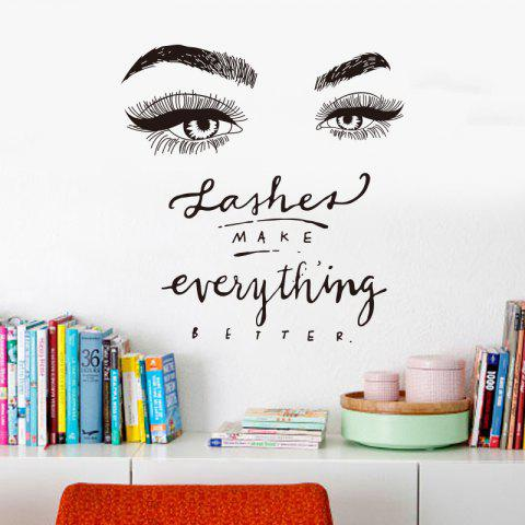 Lashes Make Everythings Better Creative Wall Stickers - BLACK
