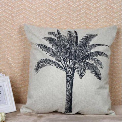 Digital Printed Cotton Linen Pillowcase - GRAY