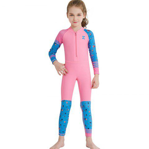 DIVE SAIL LS - 18822 Children Swimsuit Long Sleeve One-piece - PINK L(115-125CM)