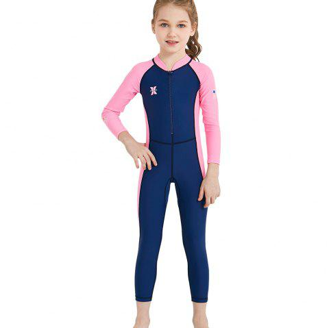 3b0aea7e7c DIVE SAIL LS - 18821 Children Swimsuit One-piece Long Sleeve - DENIM DARK  BLUE