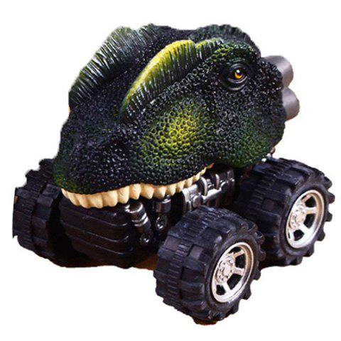Toy Dinosaur Model Pull Back Car - multicolor A DOUBLE CROWN DRAGON
