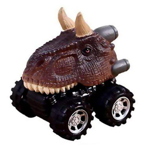 Toy Dinosaur Model Pull Back Car - multicolor A CARNIVOROUS CATTLE DRAGON