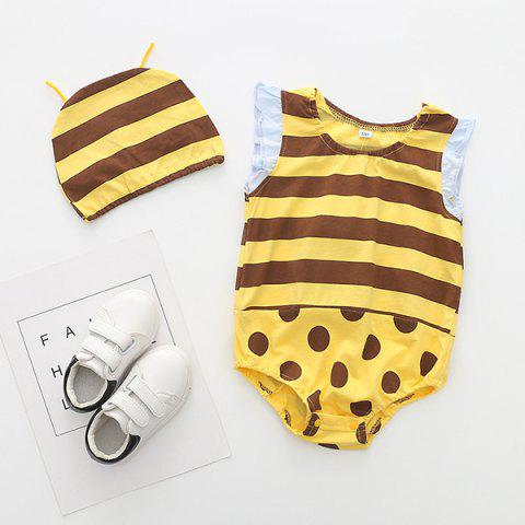 Soft Material / Breathable Wearing Fruit Styling Baby Romper - YELLOW 1-6MONTH(80)