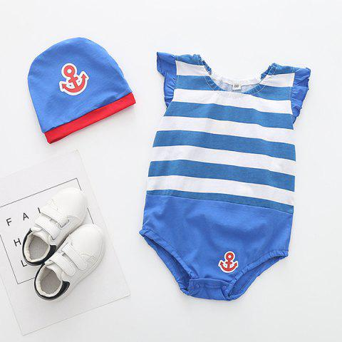 Soft Material / Breathable Wearing Fruit Styling Baby Romper - CRYSTAL BLUE 6-12MONTH(90)