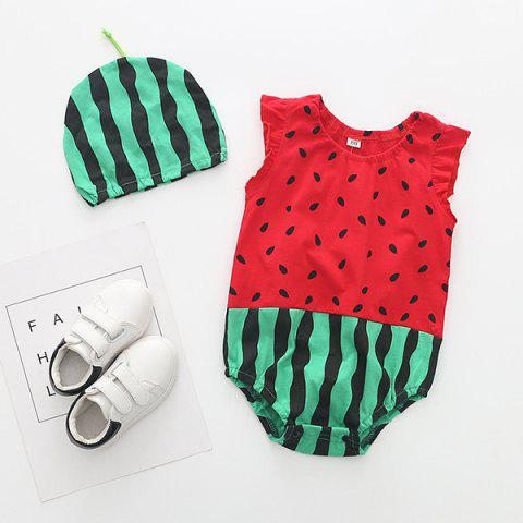 Soft Material / Breathable Wearing Fruit Styling Baby Romper - RED 1-6MONTH(80)