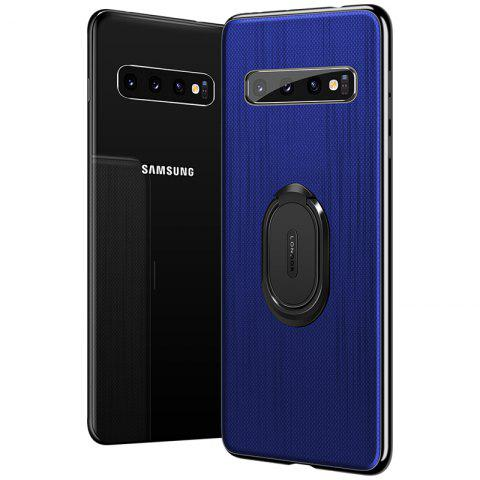 leeHUR Ultra-thin Ring Stand Magnetic Phone Case Protective Back Cover for Samsung S10 - BLUE