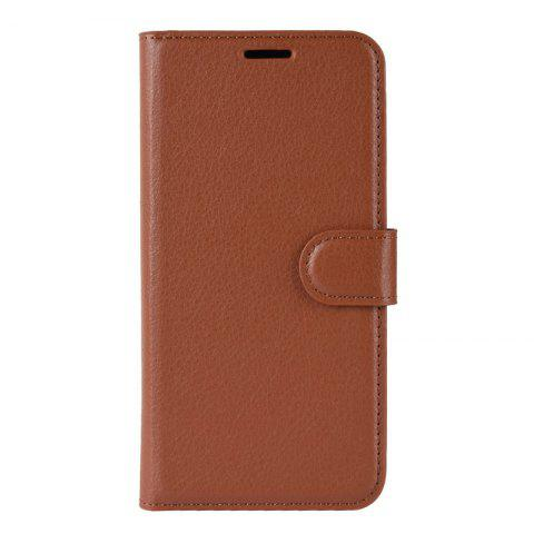 leeHUR 3-in-1 Flip Phone Case PU Leather Protective Cover for Xiaomi Play - BROWN