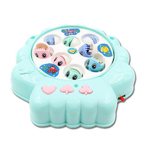Children's Puzzle Shell Electric Fishing Toy - BLUE