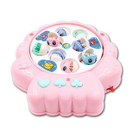 Children's Puzzle Shell Electric Fishing Toy - PINK