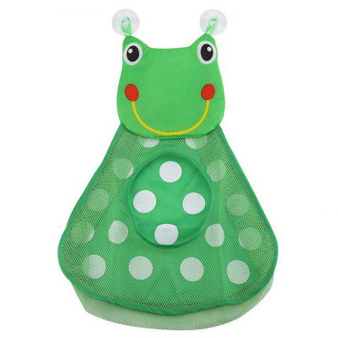 Baby Shower Bath Toys Little Duck / Frog Toy Storage Mesh with Strong Suction Cups - GREEN