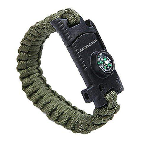 Outdoor Multi Tools Survival Emergency Bracelet Hand Rope - CAMOUFLAGE GREEN