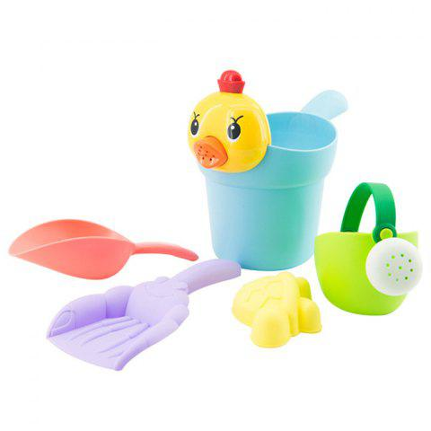 Beach Baby Bathroom Shower Toy Set with Water Scoop 5pcs - multicolor