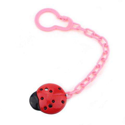 Durable Fixed Clip Safety Baby Pacifier Chain - RED