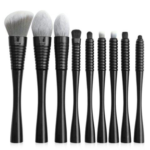 MAANGE 5757sb Small Waist Makeup Brush with Bag 9pcs - BLACK