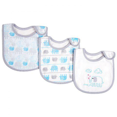 INSULAR SU1007 Baby Cotton Bib 3pcs - multicolor G