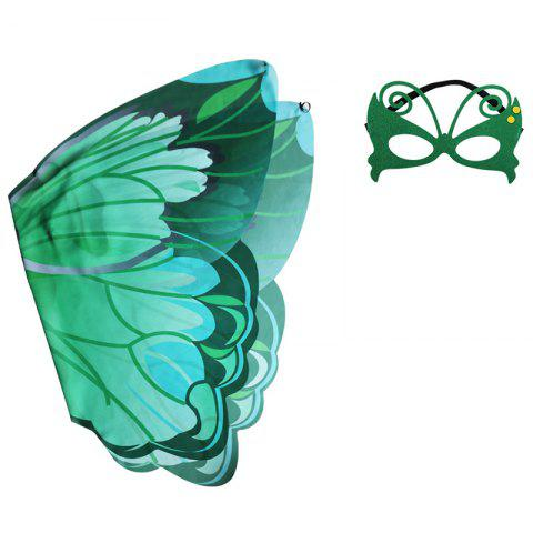 Children's Butterfly Wings Summer Outdoor Games Classic Toy Set - GREEN