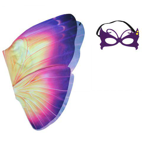 Children's Butterfly Wings Summer Outdoor Games Classic Toy Set - PINK