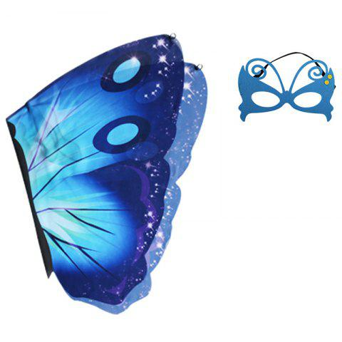 Children's Butterfly Wings Summer Outdoor Games Classic Toy Set - BLUE