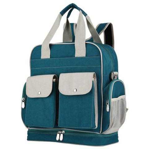 Insular 10053 Waterproof Backpack Multifunction Mummy Shoulder Bag - MEDIUM AQUAMARINE